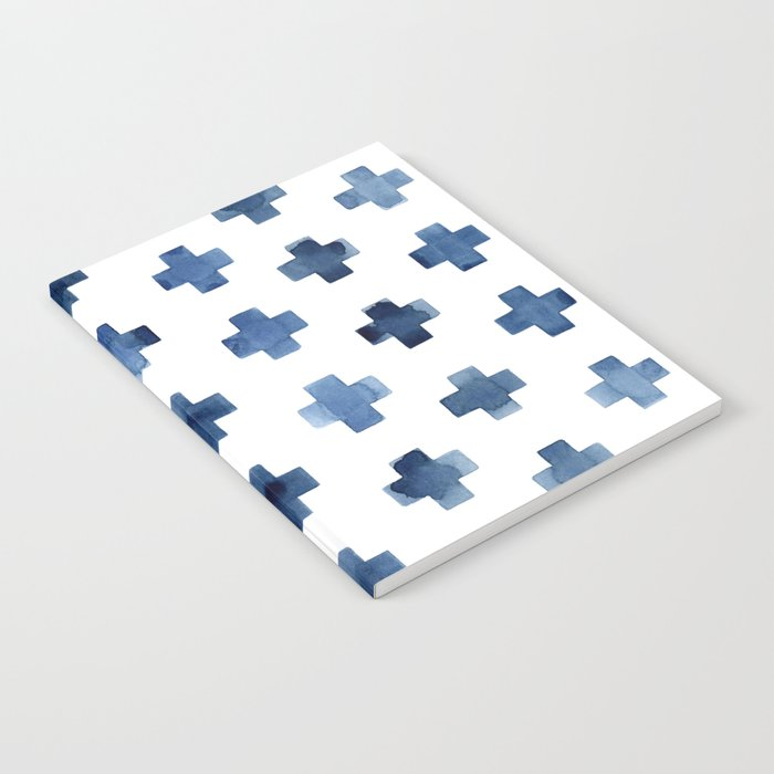 Crosses Scandinavian Pattern Notebook