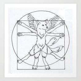 DaVinci Dog Lines Art Print