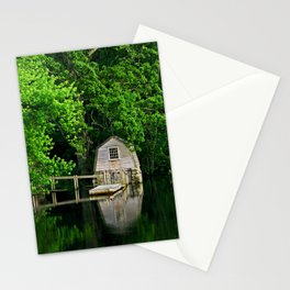 Green Reflections Stationery Cards