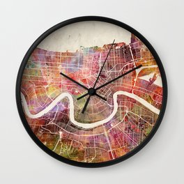 New Orleans map Wall Clock
