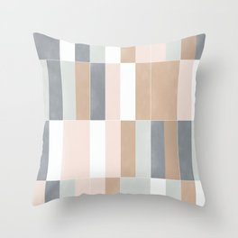 Muted Pastel Tiles 02 Throw Pillow
