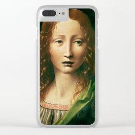 """Leonardo da Vinci """"Head of the Saviour"""" Clear iPhone Case"""
