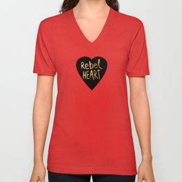 Rebel Heart Unisex V-Neck