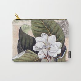 Vintage White Magnolia Carry-All Pouch