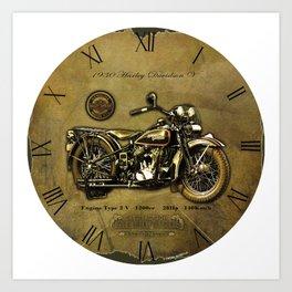 Old Motorcycle Art Print