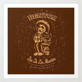 Denton Dia De Los Muertos woodcut Art Print