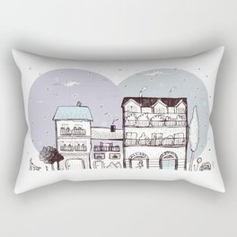 la città dalla finestra Rectangular Pillow