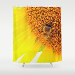 """SAVE THE BEE""""S Shower Curtain"""