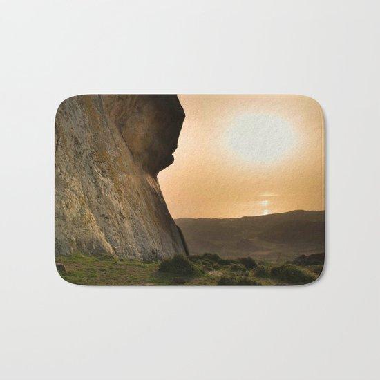 ISLAND STORIES XVIII Mountain Sunset view Bath Mat