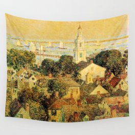 Classical Masterpiece 'Provincetown' by Frederick Childe Hassam Wall Tapestry