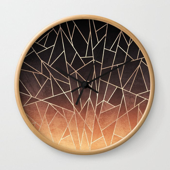 Shattered Ombre Wall Clock