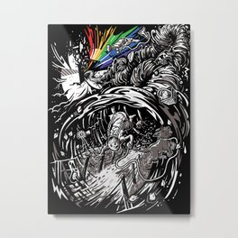Dark Side of the Rainbow Metal Print