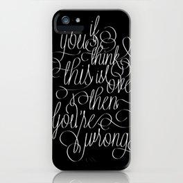 Separator iPhone Case