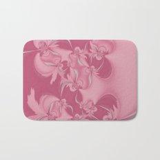 Pink Fractal Flowers Bath Mat