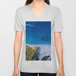 Beach sky view 4 Unisex V-Neck