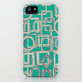 picture frames aplenty indigo jade iPhone Case