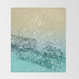 Lemon Twist Beach Glitter #2 #shiny #decor #art #society6 Throw Blanket