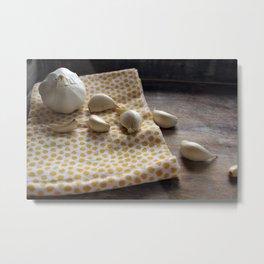 Garlic - Kitchen Witch 2 Metal Print