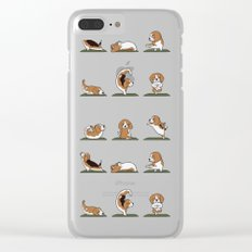 Beagle Yoga Clear iPhone Case
