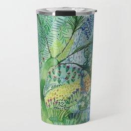 Serene Boheme Watercolor Travel Mug