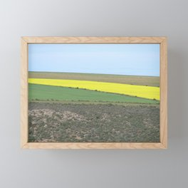 Green and Yellow Fields Spring Landscape, South Africa Framed Mini Art Print