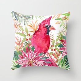 CardiBird the CARDINAL Throw Pillow