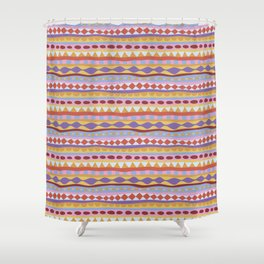 Stripey-Sunset Colors Shower Curtain