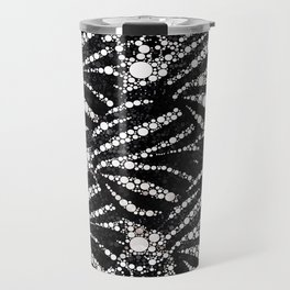 Black&Silver Abstract Bling Pattern  Travel Mug