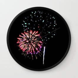 Fireworks 17 Wall Clock