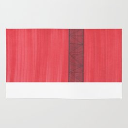 Red Background Rug