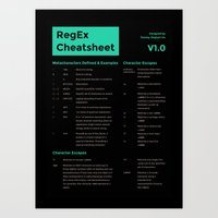 RegEx (Regular Expression) Cheatsheet Poster Art Print