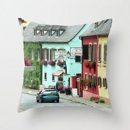 Pastel Town : Alsace Throw Pillow