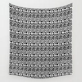 Ethnic, Abstract, Scandinavian, Minimal, Pattern, Modern art Wall Tapestry