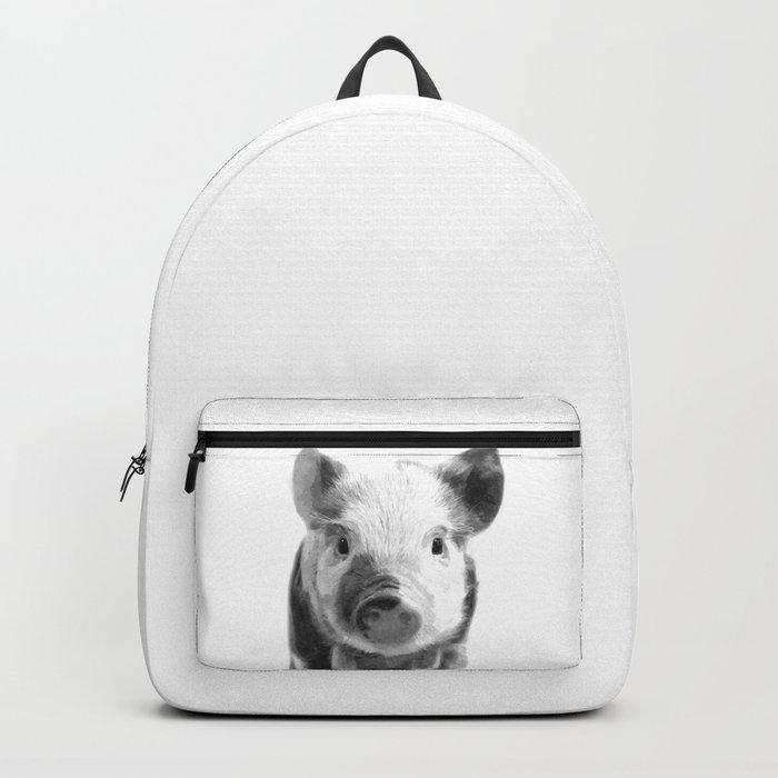 Black and white pig portrait Rucksack