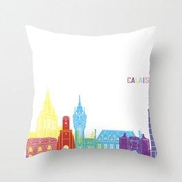Calais skyline pop Throw Pillow