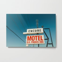 Encore Motel Metal Print
