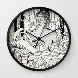 The Deer and Buddha Wall Clock