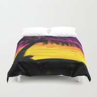 palm Duvet Covers featuring palm by Mel E Hyman