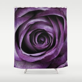 Purple Rose Decorative Flower Shower Curtain
