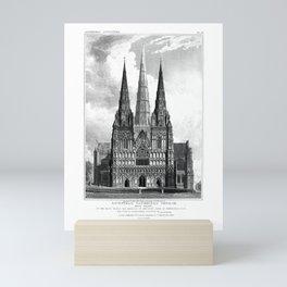 Vintage Gothic Archtecture Mini Art Print