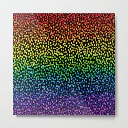 Rainbow Confetti 2 Metal Print
