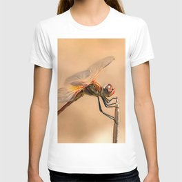 Painted Dragonfly Isolated Against Ecru T-shirt