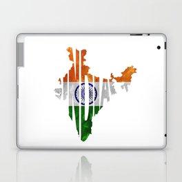 India World Map / Indian Typography Flag Map Art Laptop & iPad Skin