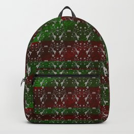 Foil Flower in Red and Green Backpack