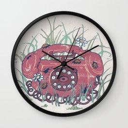Red phone Wall Clock