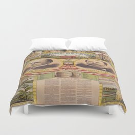 Mc. Kinley and Hobart Presidential Elections Vintage Poster 1896 Duvet Cover