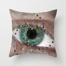 The Geometric Eye Throw Pillow