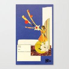 Composition on Blue Canvas Print