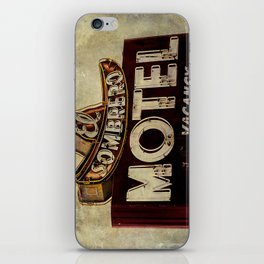 Vintage El Sombrero Motel Sign iPhone Skin