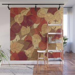 Fallen Leaves Large Wall Mural